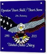 Us Navy Desert Storm Acrylic Print