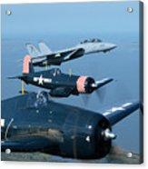 Us Navy Lagacy Flight  Acrylic Print