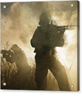 U.s. Navy Seals During A Combat Scene Acrylic Print