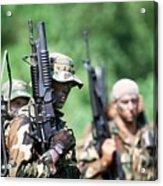 Us Navy Seals In Warfare Training Acrylic Print by Everett