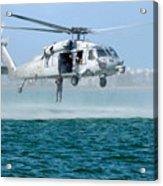 U.s. Navy Sh-60s Sea Hawk Helicopter Acrylic Print