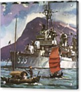 U.s. Navy Travel Poster Acrylic Print