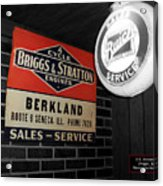 Us Route 66 Briggs And Stratton Signage Sc Acrylic Print