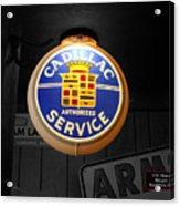 Us Route 66 Cadillac Service Globe Sc Acrylic Print