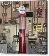 Us Route 66 Smaterjax Dwight Il Gas Pump 01 Pa 02 Acrylic Print