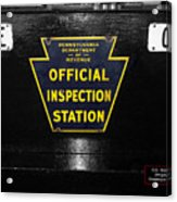 Us Route 66 Smaterjax Dwight Il Official Inspection Signage Acrylic Print