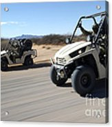 U.s. Soldiers Drive Multiple Ltatvs Acrylic Print