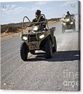 U.s. Soldiers Perform Maneuvers Acrylic Print