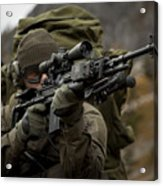 U.s. Special Forces Soldier Armed Acrylic Print