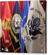 Usa Armed Forces Swearing In Acrylic Print