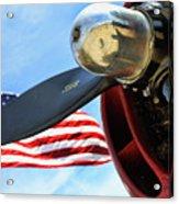 Usa Flag Bomber Wwii  Acrylic Print