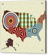 Usa Map Acrylic Print