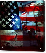 Usa Patriot Flag And War Acrylic Print