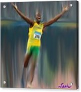 Usain Bolt 2008 Acrylic Print