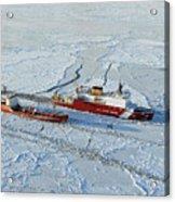Uscg Healy Breaks Ice Acrylic Print