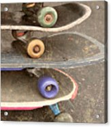 Used Skateboards Acrylic Print