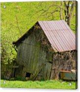 Used Virginia Barn Acrylic Print