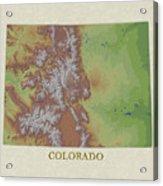 Usgs Map Of Colorado Acrylic Print