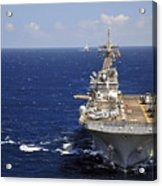 Uss Boxer Leads A Convoy Of Ships Acrylic Print by Stocktrek Images