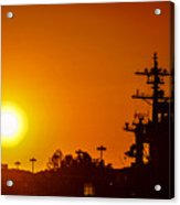 Uss Carl Vinson At Sunset 3 Acrylic Print