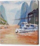 Uss San Pablo On Yangtze River Patrol Acrylic Print