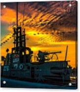 U.s.s. Silversides Sunset Acrylic Print