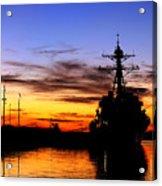 Uss Spruance Is Pierside At Naval Acrylic Print