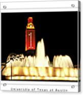 Ut Tower Poster Acrylic Print