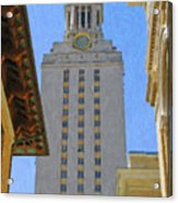 Ut University Of Texas Tower Austin Texas Acrylic Print
