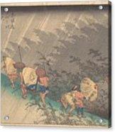 Utagawa Hiroshige    Shno Hakuuwhite Rain At Shno Acrylic Print