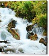 Utah Cascade Acrylic Print