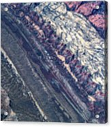 Utah Mountains High Altitiude Aerial Photo Acrylic Print