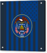 Utah State Flag Graphic Usa Styling Acrylic Print