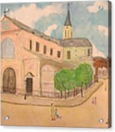 Utrillo And Church Seasonal Change In Paris By Japanese Artist Acrylic Print