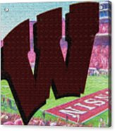 Uw Game Day Poster - Oil Acrylic Print