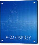 V-22 Osprey Blueprint Acrylic Print