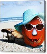 Vacationing Jack-o-lantern Acrylic Print