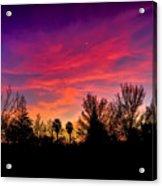 Vacaville Sunset Silhouette  Acrylic Print