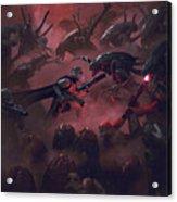Vader Vs Aliens 1 Acrylic Print