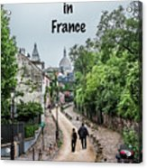 Vagabonds In France Book Cover Acrylic Print