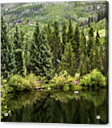 Vail Reflections In The Summer Acrylic Print