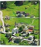Val Poschiavo From The Bernina Express Switzerland Acrylic Print