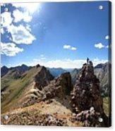 Valecito And Chicago Basins From Mt Jupiter - Weminuche Wilderness - Colorado Acrylic Print