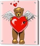 Valentine Bear Acrylic Print