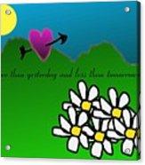 Valentine Card Acrylic Print