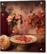 Valentine Cookies Acrylic Print