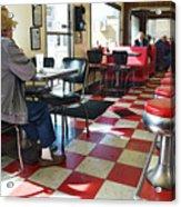 Valentine Diner Interior Acrylic Print