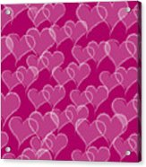 Valentine Hearts Pattern Acrylic Print