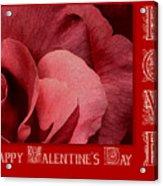 Valentines Day Love Acrylic Print