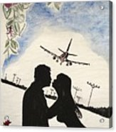 Valentine Kiss Acrylic Print